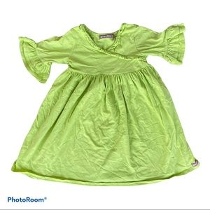 Jelly the Pug lime green dress top girls size 6X